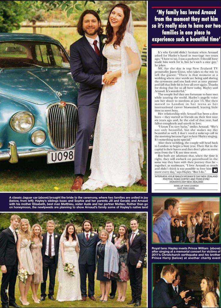 Hayley Westenra married Arnaud Sabard December 29, 2013.