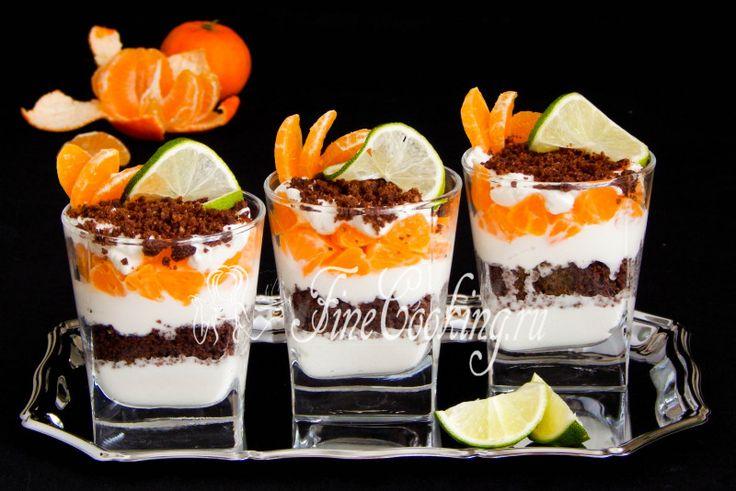 Мандариновый десерт с рикоттой