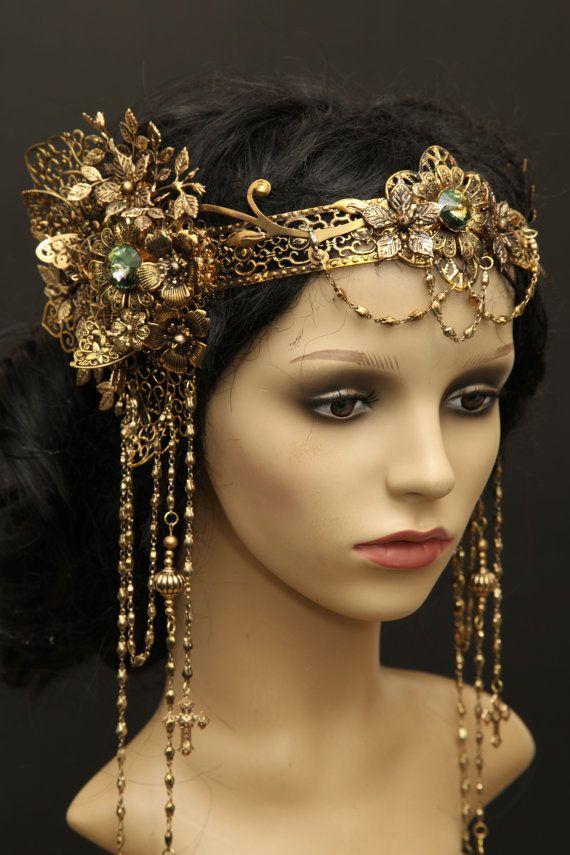 Filigree elven elfen crown tiara belly dance art von Zerrenety