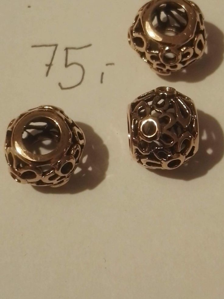 Bronze perle 75 kr. ø ca 1,1 cm