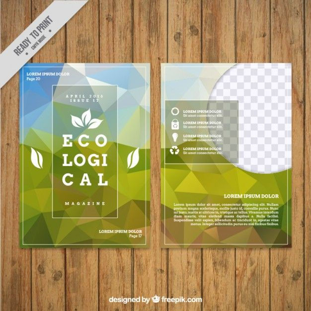 Geometrical ecological flyer Free Vector