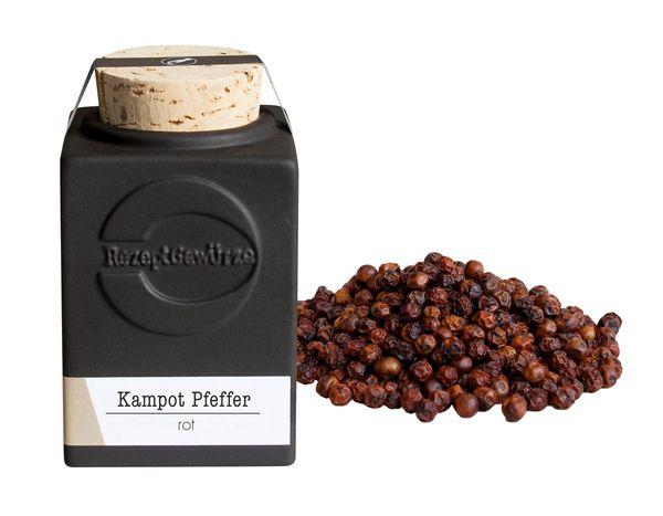 Kampot Pfeffer, rot, ganz