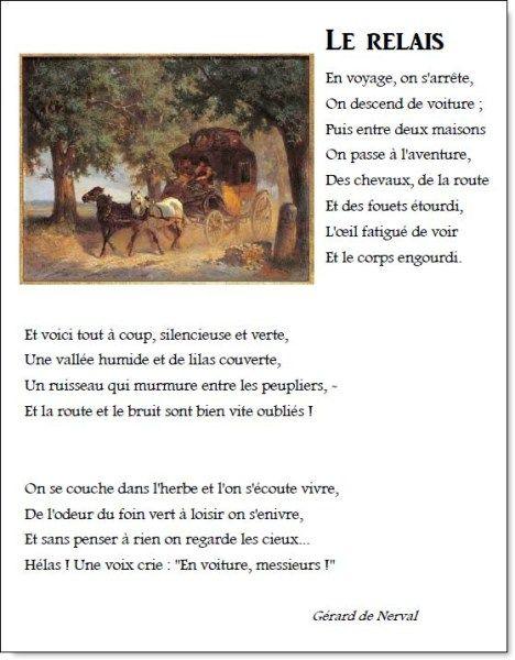 Poème et chant – Le relais – Gérard de Nerval | la maîtresse a des yeux dans le dos