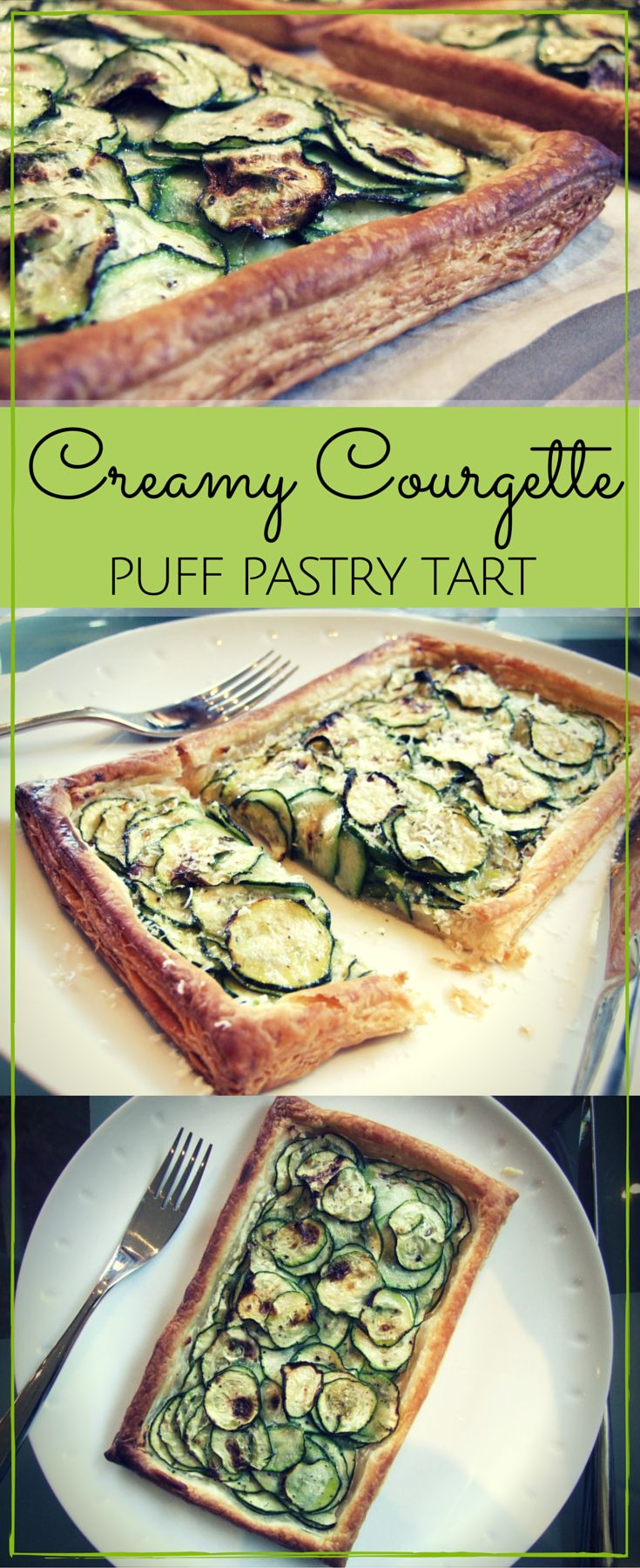 Make the most of seasonal produce with this quick & easy creamy courgette puff pastry tart. Summery and delicious!