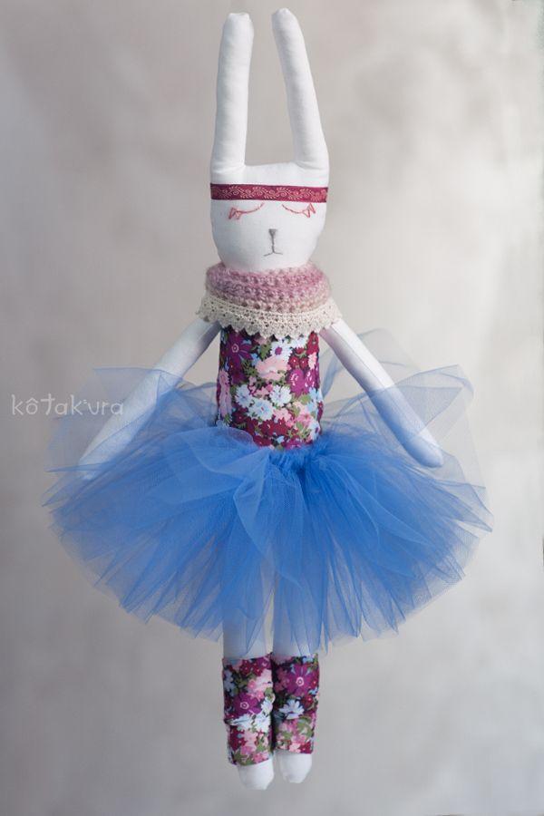Bunny Ballerina in blue tutu