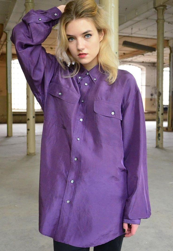 90s Vintage Purple Shirt | Cukier Puder Vintage | ASOS Marketplace