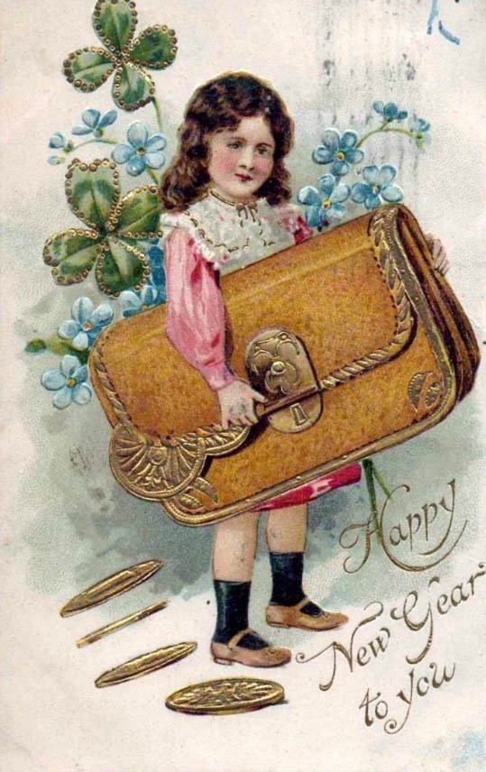 happy new year gelukkig nieuwjaar happy new year pinterest vintage postcards vintage and vintage cards
