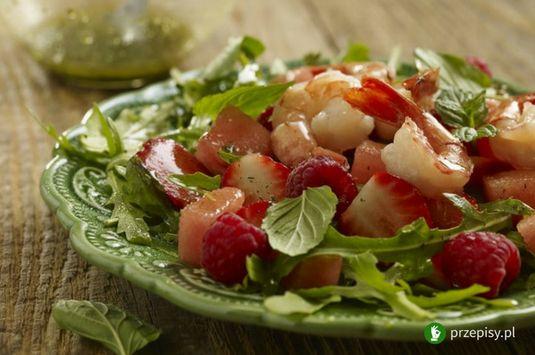 Owocowa sałatka z krewetkami #fruit #salad #shrimp