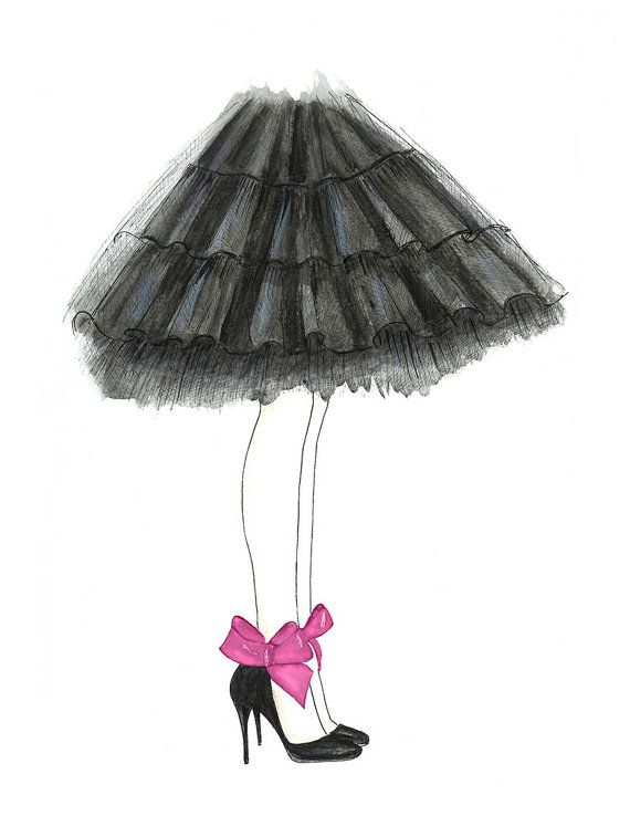 Ballerina Drawing For Kids Wall Art