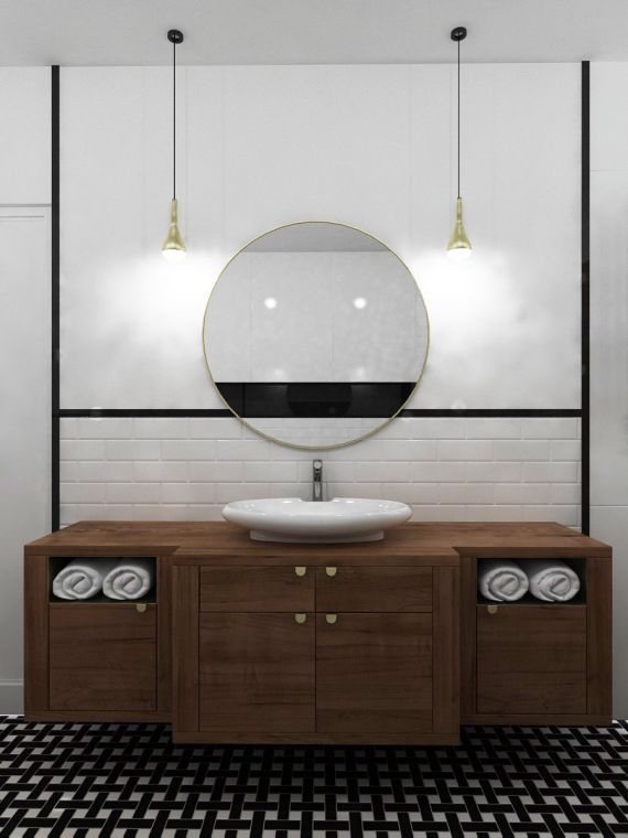 bathroom by spoiwostudio.pl