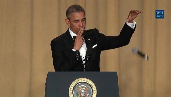 President Obama's mic drop at the White House Correspondence Dinner via WhiteHouse.gov