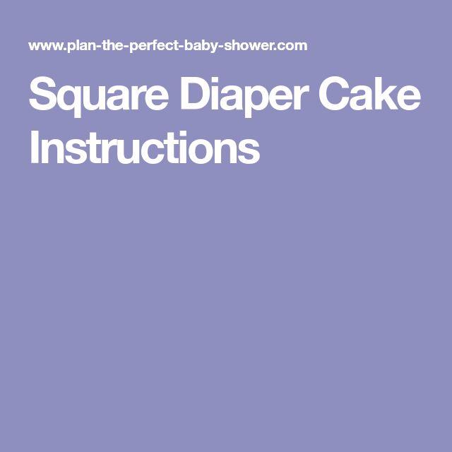 Square Diaper Cake Instructions
