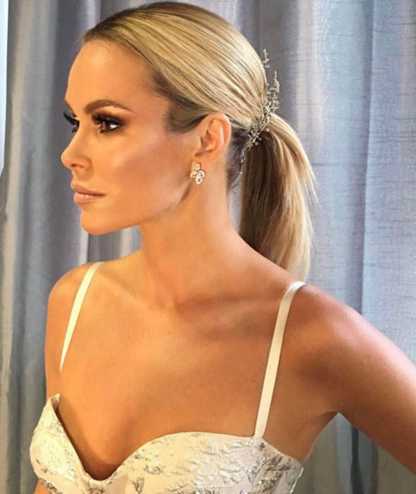 Amanda Holden strikes a pose as she gets ready for Britain's Got Talent