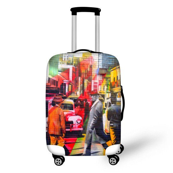 Painted Luggage Cover City - FREE SHIPPING!
