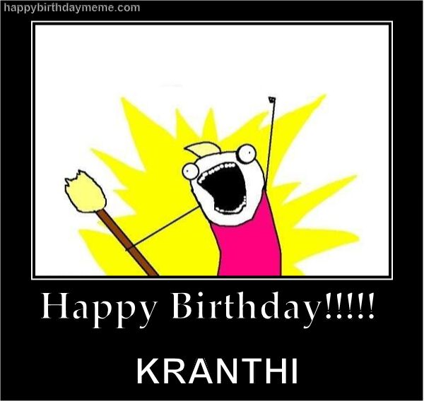 Kranthi's b'day..