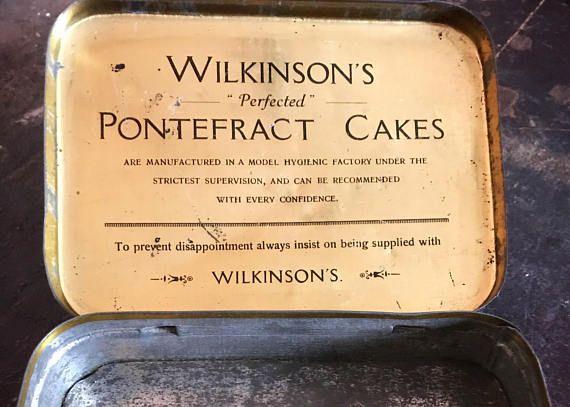 Vintage Wilkinson's Pontefract Cake Liquorice Sweet Tin
