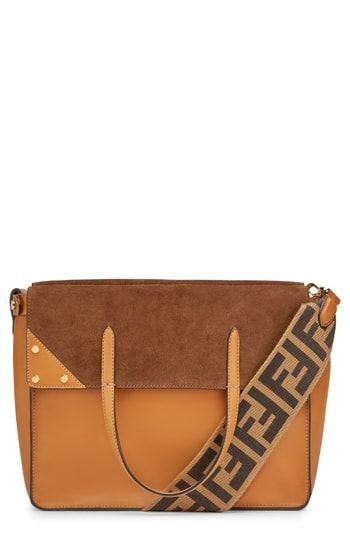 42d90a6b70d0 New Fendi Flip Leather Suede Tote. Women s Fashion Handbags   2690  from  top store