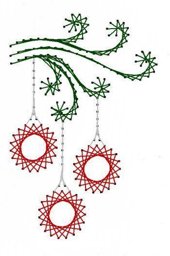 Swirl Kerst ornamenten papieren borduurwerk patroon voor door Darse