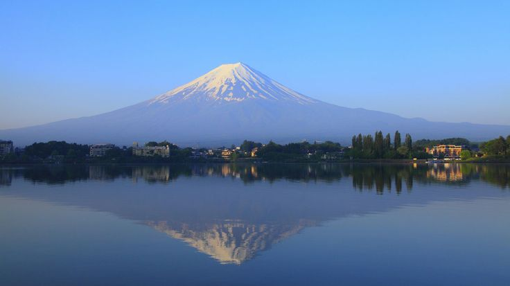 Volcanoes also characterize Japan: The Fujiyama, the sacred mountain and at the same time the symbol, is the country's largest volcano .