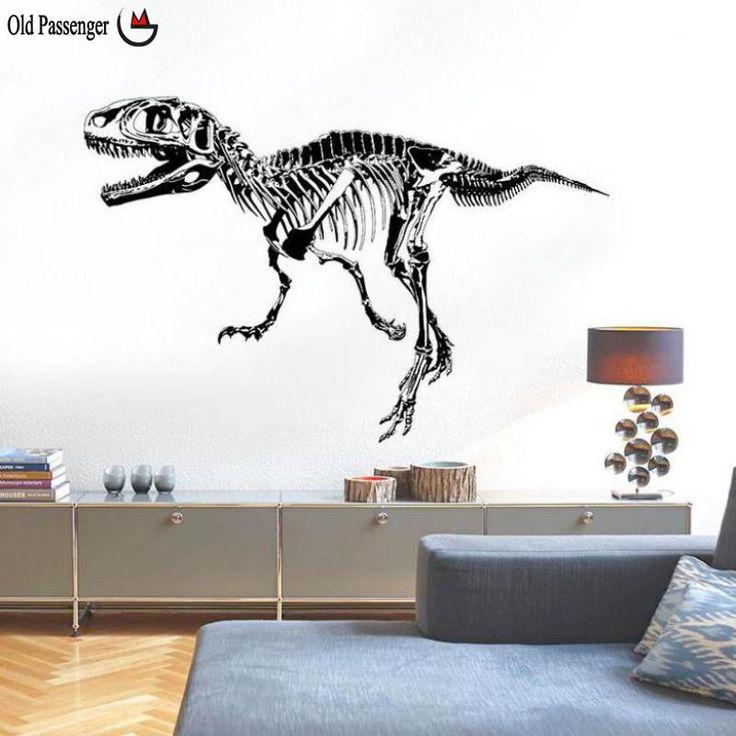 Oude Passenger _ Muurstickers Dinosaurus Silhouet Creatieve Persoonlijkheid Slaapkamer Ingang Studie Dier Decoratieve in [xlmodel]-[foto]-[0000]foto Lijst[xlmodel]-[custom]-[8273]na verkoop Caractersticas:.100% een estrenar.. materiaal van muurstickers op AliExpress.com   Alibaba Groep