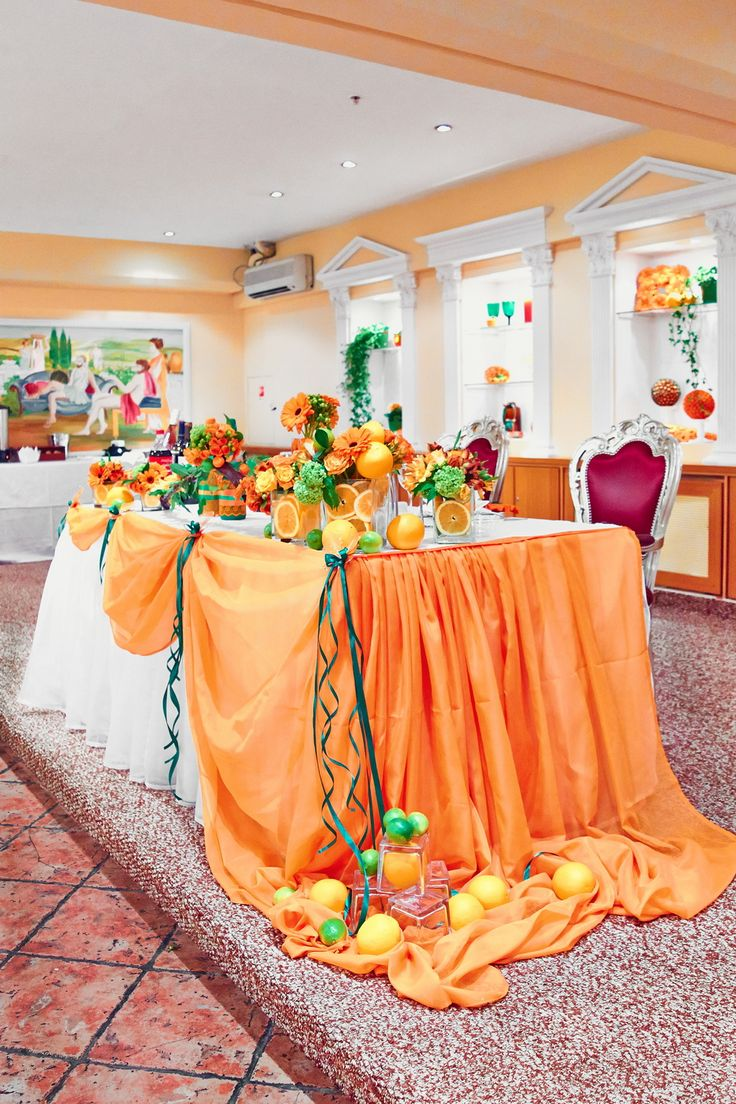 orange wedding background