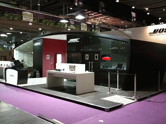 Kubik Exhibition Stand View : Bose ideal home show build whiteroom have just completed