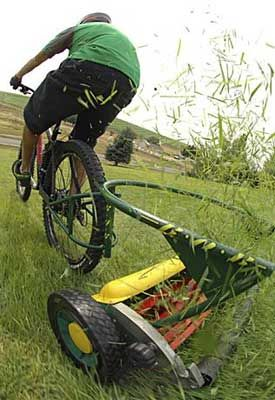 Reel Lawn Mowers... perhaps the perfect gift for Hubby.....