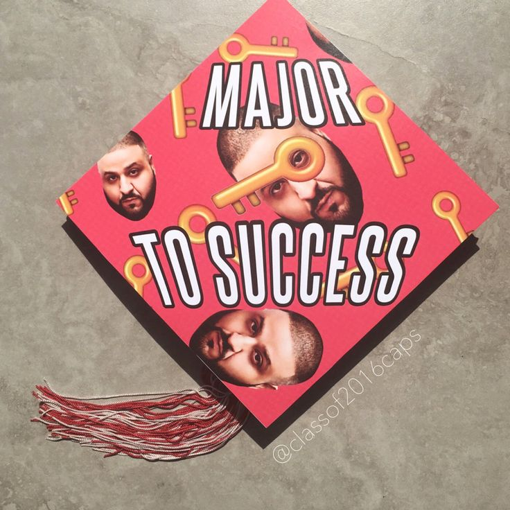 Graduation Cap Design for College or High School Graduation - Major Key to Success by specialgradcapdecor on Etsy