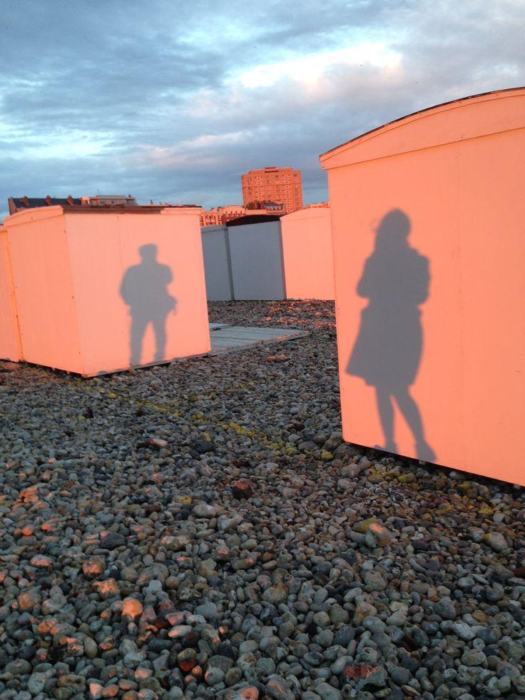 Cabanes de plage. Le Havre, France, Photographie Chagrine Froumentin .