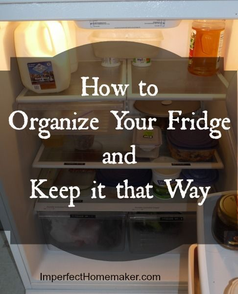 A quick and easy way to organize your fridge and keep it that way. Drastically reduces food waste.