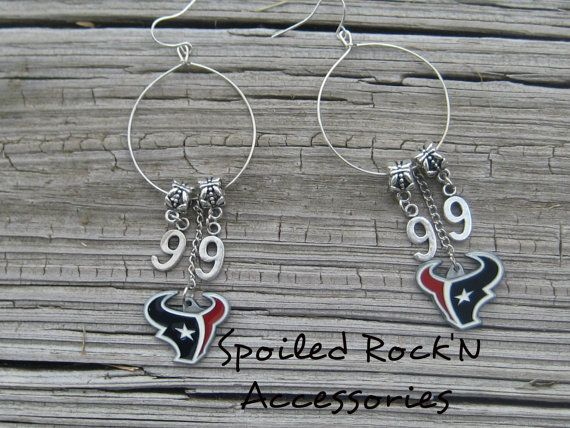 Houston Texans Earrings JJ Watt Earrings NFL by SpoiledRockN