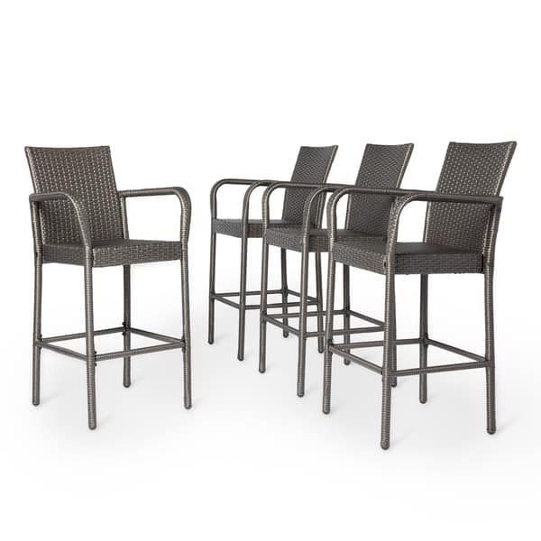 Awesome Set Of 4 Outdoor Bar Stools