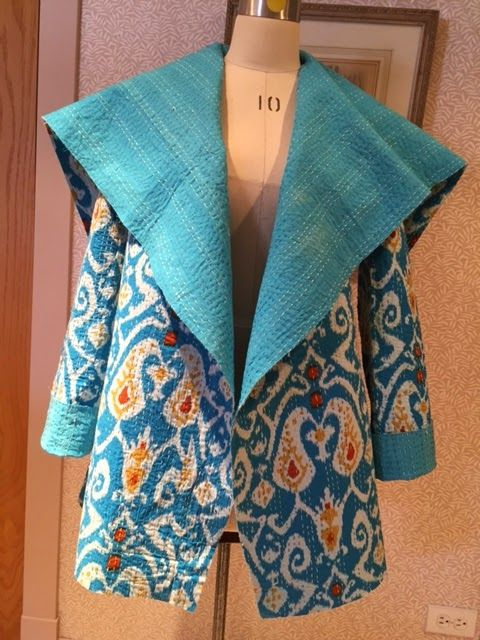 An easy, yet chic free jacket pattern from Sew News.