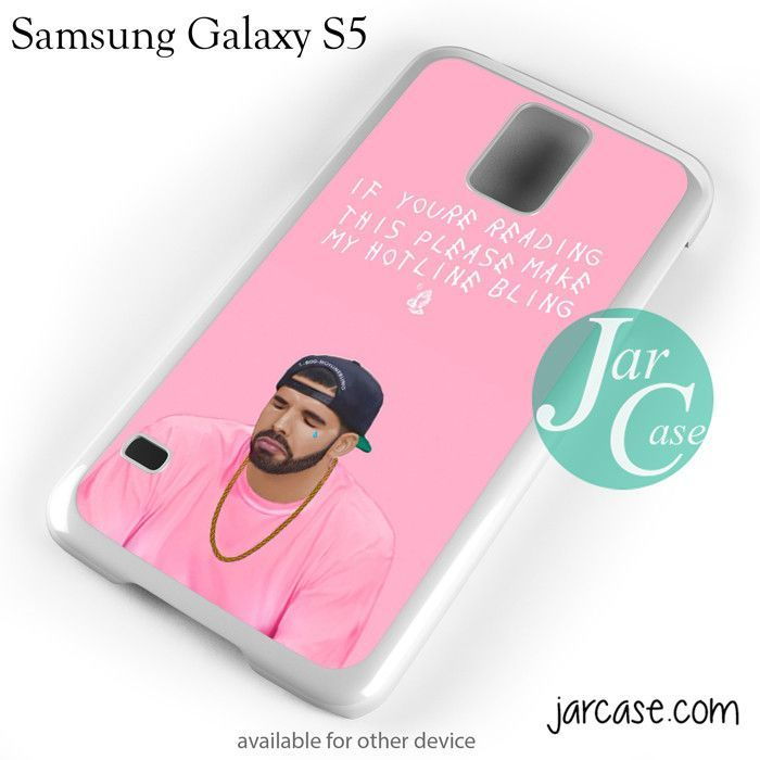Drake pink hotline bling Phone case for samsung galaxy S3/S4/S5