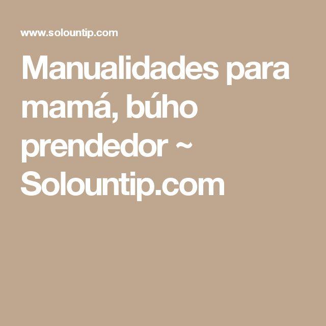 Manualidades para mamá, búho prendedor ~ Solountip.com