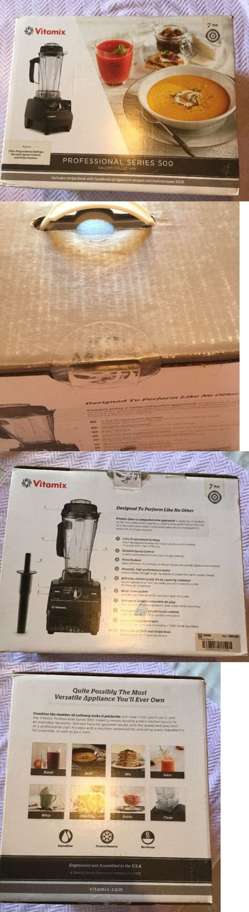 Blenders Countertop 133704: Vitamix Professional Series 500 Gallery Collection Blender Pro Vm0102b Black -> BUY IT NOW ONLY: $369 on eBay!