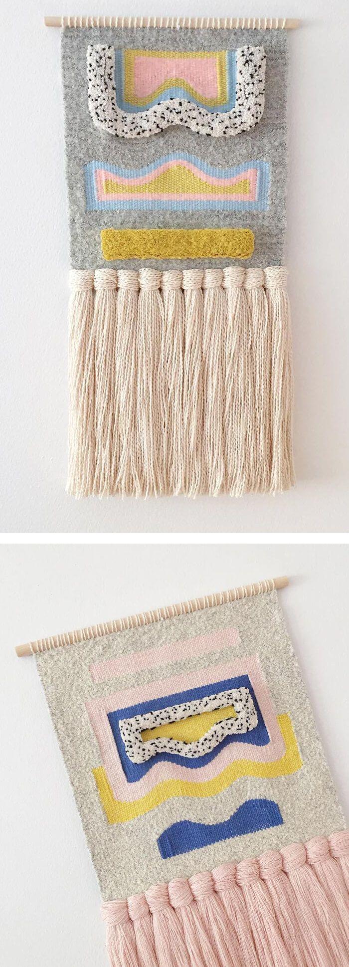 Weaving by Allyson Rousseau // wall hangings // yarn art