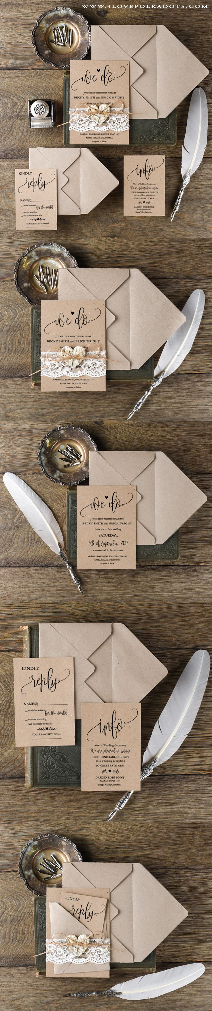Capture Homemade Wedding Invitations