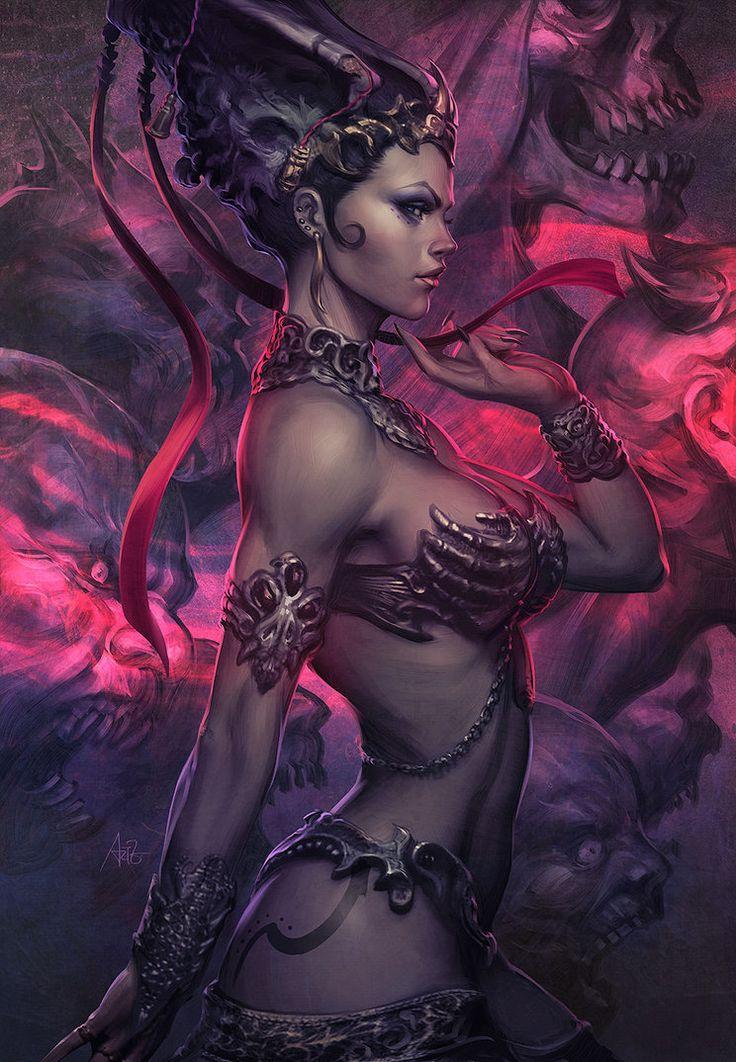 Avelina De Moray Dark Horror Fantasy Gothic Evil Vampire Women Brunette Sexy Babes Wallpaper