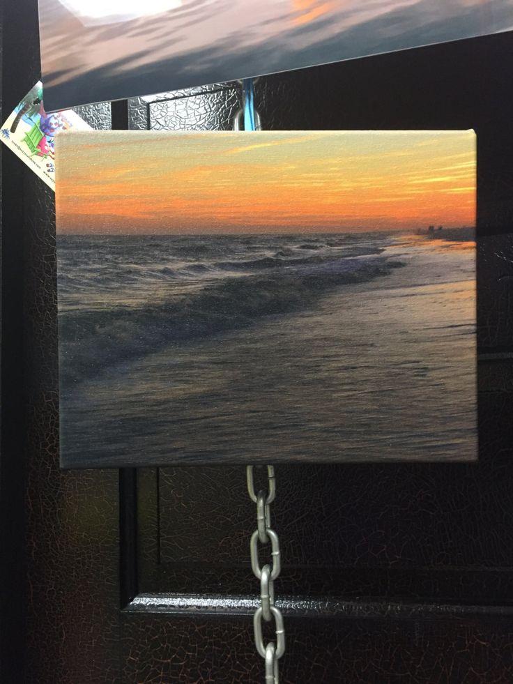 Coastal Sunset 8x10 Canvas Print by SuzysSunshine on Etsy