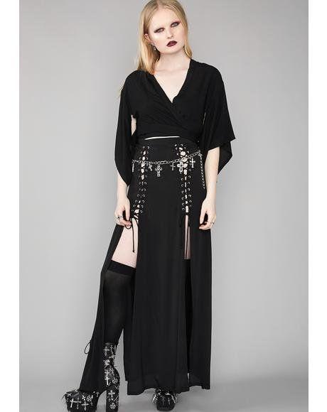 29a2586617 Dark Eternity Maxi Skirt #dollskill #widow #traditionalgoth #gothic  #alternativefashion #maxi #skirt