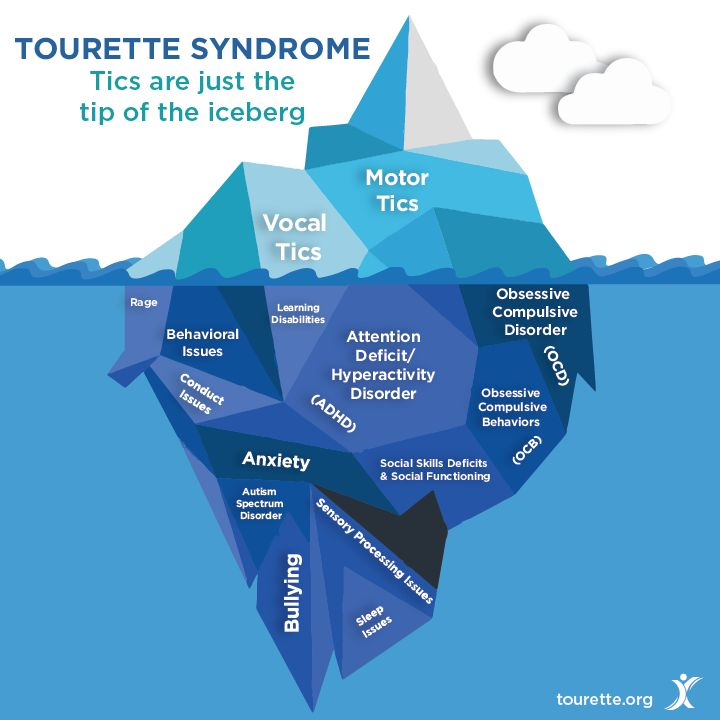 There is so much more to #Tourette Syndrome than people may realize. Tics are just the tip of the iceberg. Learn more at Tourette.org