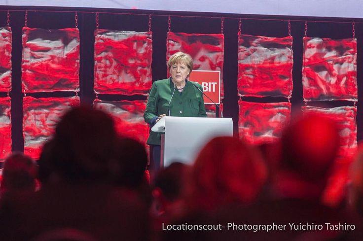 #press Mrs Merkel held a speech at welcome night at Cebit 2017 in Hanoer. #cebit #hanover #merkel #speech