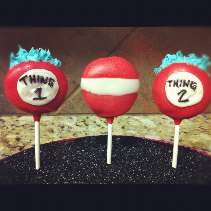 The Cat In The Hat Cake Pops