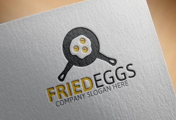 Fried Eggs Logo by josuf on Creative Market
