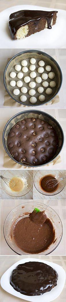 Csokoládé torta túró golyók