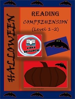 Halloween Reading Comp (1-2) 5 Lesson activities for grade 1 and 2 students to improve reading comprehension.  - 2 pages per lesson  - Simple A4 sheets with some lessons that include drawing pictures to demonstrate student understanding of the stories. - A4 sheets to print in color or black and white.