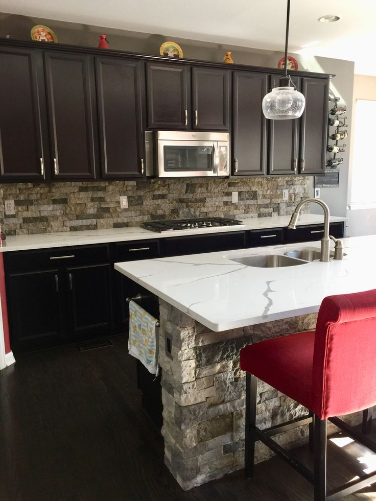 Best Our New White And Gray Kitchen Counters And Large Kitchen 640 x 480