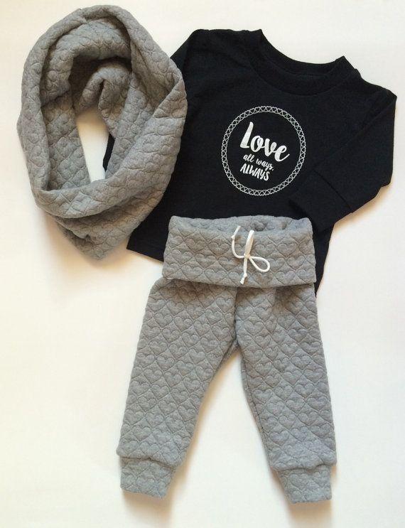 Heart sweatpant leggings // baby girl leggings // by VivaLaGlitz