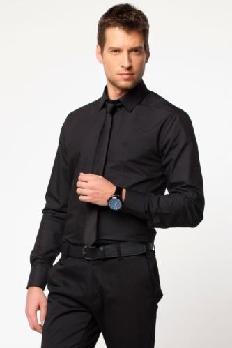 Sade görünümü ve dar kesimiyle gardrobunuzun vazgeçilmezi, renk seçenekleriyle kombinlerinizi tamamlayacak DeFacto erkek basic gömlek.